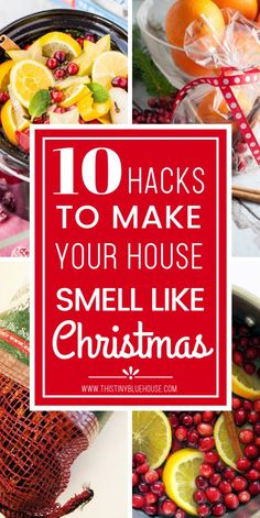 These 10 Genius scent hacks will make your house smell fabulous for the holidays! These 10 ways to make your house smell like Christmas are hand down the easiest and best way to make your house smell amazing and get you into the festive spirit. Christmas On A Budget, All Things Christmas, Holiday Fun, Christmas Holidays, Christmas Crafts, Festive, Christmas Ideas, Smell Of Christmas, Christmas Cooking