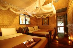 "The floating bamboo raft rooms with natural cooling from the river underneath, be pampered in this ""hassle-free"" hideaway."