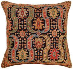 Needlepoint Afshar I Pillow: Designer Pillow Shop, Luxury Decorative Throw Pillows, Decorator Pillows