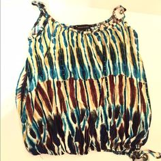 Tie dye tank Spaghetti strap tank top that ties at the waist! Super comfortable and new Forever 21 Tops
