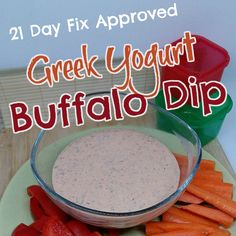 A delicious 21 day fix approved salad dressing recipe for Greek yogurt buffalo dip. Using basic ingredients and only 2 red containers & 2 teaspoons of oil! 21 Day Fix Snacks, 21 Day Fix Diet, Nutrition Activities, Kids Nutrition, Nutrition Guide, Cheese Nutrition, Nutrition Shakes, Advocare Recipes, Fixate Recipes