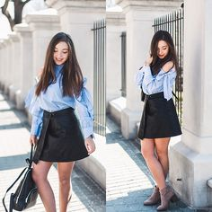 Get this look: http://lb.nu/look/8669507  More looks by Gabriela Grębska: http://lb.nu/mowmigaba  Items in this look:  Shein Blouse, Daniel Wellington Watch, Jollychic Skirt, Kadell Backpack   #chic #romantic #street #ootd #outfit #pastel #pastels #skirt #leather