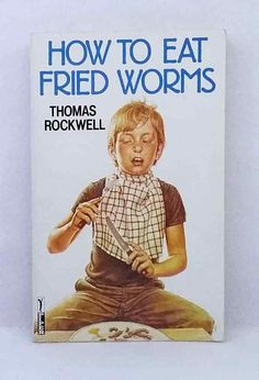 How to Eat Fried Worms by Thomas Rockwell good used cond illustrated paperback Chapter Books, Worms, Baseball Cards, Reading, Eat, Classic, Illustration, Kids, Derby