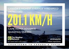 It gets pretty gusty in one of the northernmost inhabited places in the province of Quebec 💨 Great 🇨🇦 fact 71/150 #Canada150
