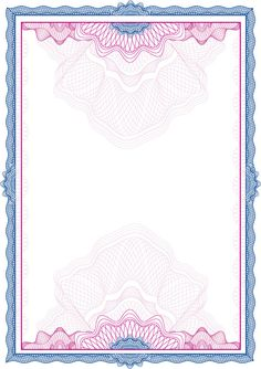 Certificate Border Template Colored Classical Seamless in Certificate Border Design Templates - Hand Plane Goodness Template Certificate Background, Certificate Border, Certificate Design Template, Frame Border Design, Boarder Designs, Page Borders Design, Background Design Vector, Vector Design, Border Templates