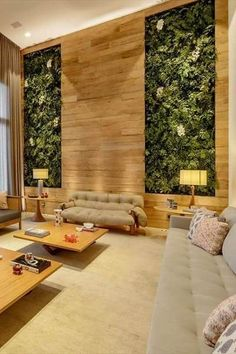 Wall Decor Design, House Design, Vertical Green Wall, Home, Interior Architecture, House Architecture Design, Interior Design Your Home, Interior Garden, Roof Design