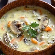 Фото Сливочный суп с рисом и грибами