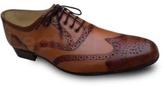 Men Brown Oxford Brogue Wingtip Genuine Leather Shoes Brown Brogues, Oxford Brogues, Handmade Leather Shoes, Brown Leather Shoes, Oxford Shoes Outfit, Dress Shoes, Formal Shoes, Men, Boots