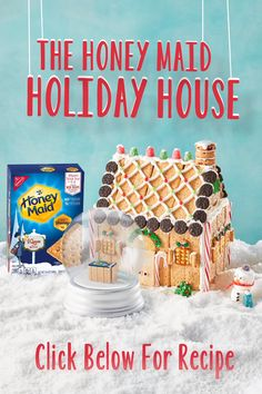 Build your holiday house with HONEY MAID Graham Crackers and icing, then let it . Christmas Food Treats, Christmas Crafts For Kids, Christmas Goodies, Christmas Candy, Christmas Desserts, Christmas Baking, Holiday Treats, Diy Christmas Gifts, Holiday Fun