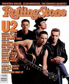 U2: The Rolling Stone 499: 05/07/1987, Photograph by Anton Corbijn #bono #theedge #larrymullen #adamclayton #u2 #music #rock #rollingstone #antoncorbijn