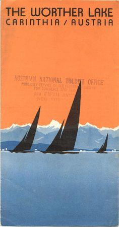 Travel brochure for the Wörther Lake, Austria, circa 1931