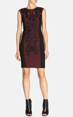Signature embroidered dress