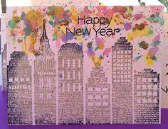Hero Arts Cardmaking Idea: Happy New Year