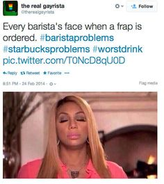 Order a Frappuccino. | 29 Ways To Be The Worst Person At Starbucks, my life -_-