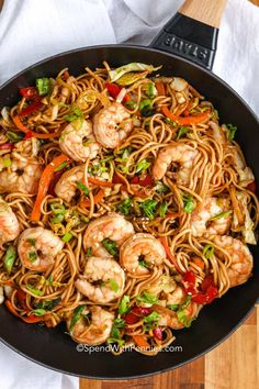Shrimp Recipes For Dinner, Chicken Pasta Recipes, Supper Recipes, Quick Dinner Recipes, Quick Easy Meals, Fish Recipes, Seafood Recipes, Asian Recipes, Crockpot Recipes