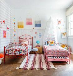 Best Shared Girls Bedroom – My Life Spot Hippie Room Decor, Baby Room Decor, Bedroom Decor, Kids Room Design, Little Girl Rooms, Girls Bedroom, Decoration, Home Decor, Kidsroom