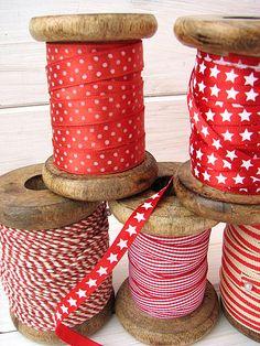 I can't resist little ribbon spools