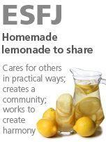ESFJ - homemade lemonade