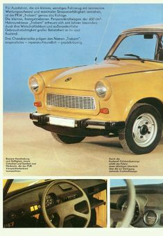 Car Pics, Car Pictures, East German Car, Car Brochure, East Germany, Car Advertising, Small Cars, Limousine, Vintage Cars