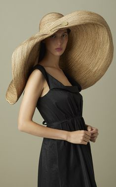 Giga Spinner Safety Pin Raffia Hat by Lola Hats Looks Style, My Style, Diy Fashion, Womens Fashion, Fashion Brands, Gothic Fashion, Victorian Fashion, Fashion Online, Outfits
