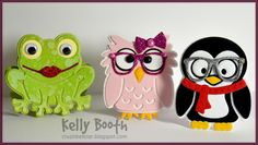Kelly Booth for ECD using Karen Burniston dies making Character Gift cards; June 2014