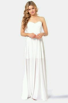Lulu's white long maxi dress.