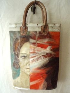 Leslie Oschmann Makes Vintage Handbags From Old Oil Paintings