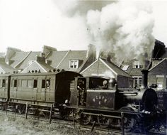 Weston, Clevedon and Portishead Railway at Weston. by brizzle born and bred Bristol England, North Somerset, Weston Super Mare, Steam Railway, Southern Railways, Bristol City, British Rail, Old Trains, Train Engines