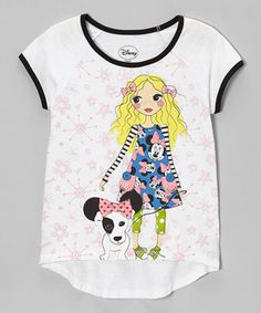 Another great find on #zulily! Black & White Minnie Tee - Girl by Minnie Mouse #zulilyfinds