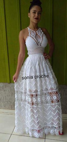 Best Casual Fashion Part 2 Mode Crochet, Diy Crochet, Crochet Crafts, Crochet Bikini, Crochet Top, Crochet Skirts, Crochet Clothes, Crochet Wedding Dresses, Crochet Woman