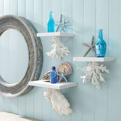 Floating Coral Shelves | 33 Nautical DIYs That Will Transport You To The Beach