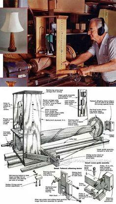 Lathe Router Spiral Cutting Jig - Lathe Tips, Jigs and Fixtures | WoodArchivist.com