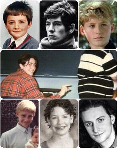Hobbit cast....back in the day....OHMYGOSH TO CUTE. THE FIRST PICTURE IS ORLANDO BLOOM. THEN IAN MCKELLEN, DEAN O'GORMAN, OMG LEE PACE THO, and then MARTIN FREEMAN, THEN THERE IS EVANGALENE LILLY and I dont know who the next person is either.