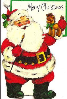 Santa with paint brush