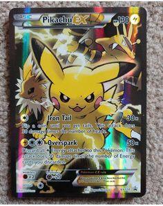 Pikachu XY124 Black Star Promo Pokemon Card - Full Art Holo! #pikachu #pokemon #pokemoncards #tcg