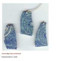 Faux Crackled Tile Shards Polymer Clay Tutorial by Tonja Lenderman