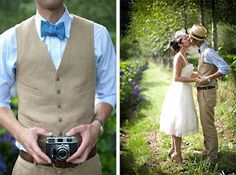 I'm not sure about the hat, but the guy's clothes is amazing cute. The colors are soft and wearable-- it's nice for wearing for outside photos. It's almost country-like, simple and a wonderful combination. Love the bowtie.
