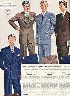 french 1950s fashion designs for men by sebraprints on. Black Bedroom Furniture Sets. Home Design Ideas
