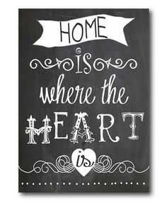 Where the Heart Is Wrapped Canvas | zulily