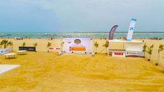 Pantalla LED #digitalsignage #carrerassanlucar #ilovehorses #cadiz #verano2015 #playa se fusiona con la #tecnologia