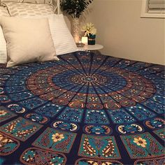 Mandala Tapestry Bohemian Round Beach Towel Camping Bath Bedspread Cover Blanket Hippie Colchas Indias Bed Sheets Table Cloth  #Affiliate