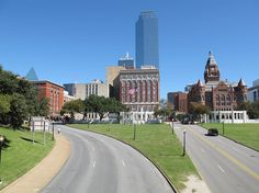 Dealey Plaza in Dallas, Location of John F. Kennedy Assassination *My opinion.. very erie to be there. But got to share with Matt so that was nice.