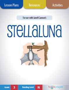 "This set of lesson plans, resources, and activities is for use with ""Stellaluna"" by Janell Cannon. It can be used for whole group, small group, and independent instruction - which makes these resources a smart choice for literacy centers or Interactive Activities, Book Activities, 1st Grade Books, Stellaluna, Vocabulary Instruction, Guided Practice, Balanced Literacy, Comprehension Strategies, Author Studies"