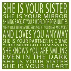 I <3 my sister!!