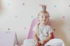 Pokój dzecięcy, kropki w pokoju   dziecka, pokój dziewczynki