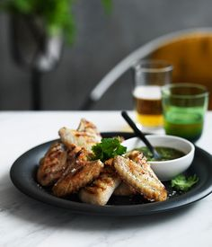 Grilled chicken wings with nahm jim recipe :: Gourmet Traveller Grilled Chicken Wings, Grilled Chicken Recipes, Food Doctor, Recipe Using Chicken, Savarin, Recipe Search, Asian Cooking, Food Lists, Recipe Collection