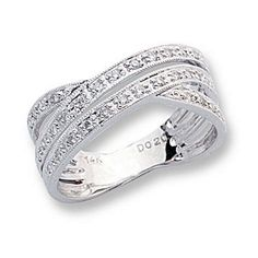 "vow renewal??   ""cord of 3 strands is not easily broken""  (god, husband, wife""    Ladies Diamond Triple Row Cris Cross Ring: Jewelry: Amazon.com"