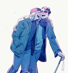 """""""commission for yourspringsoldier! she asked for matt and foggy being cute (❁´◡`❁)"""" Matt Murdock/Daredevil and Foggy Nelson fanart by bananasandguavas Best Friends. Marvel Heroes, Marvel Avengers, Defenders Marvel, Stucky, Daredevil Matt Murdock, Marvel's Daredevil, Detective, The Wicked The Divine, Dc Movies"""