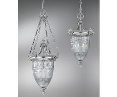 The Victoria lantern is made with cut lead-crystal glass on cast brass frames, which are finished in satin chrome. Two versions are available, a pendant lantern...