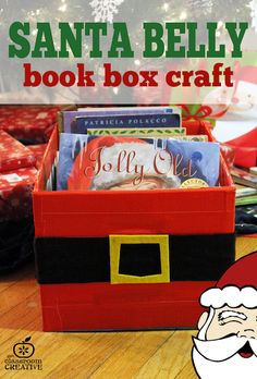 Santa belly book box